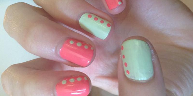Mint + Coral Nail Polish Combo | BeautyFresh