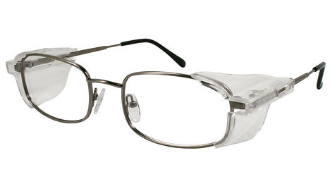 safety glasses with permanent side shields