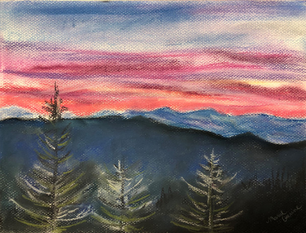 Mountainscape in Pastel