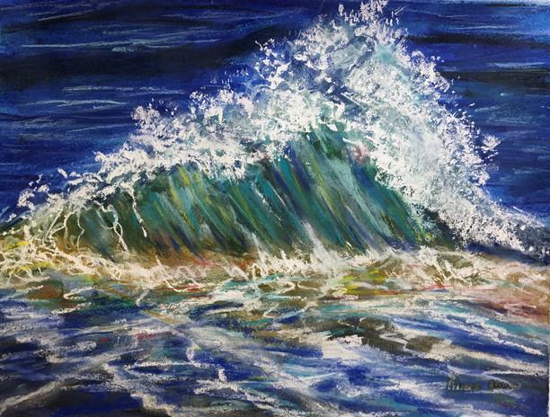 Crashing Wave in Pastel