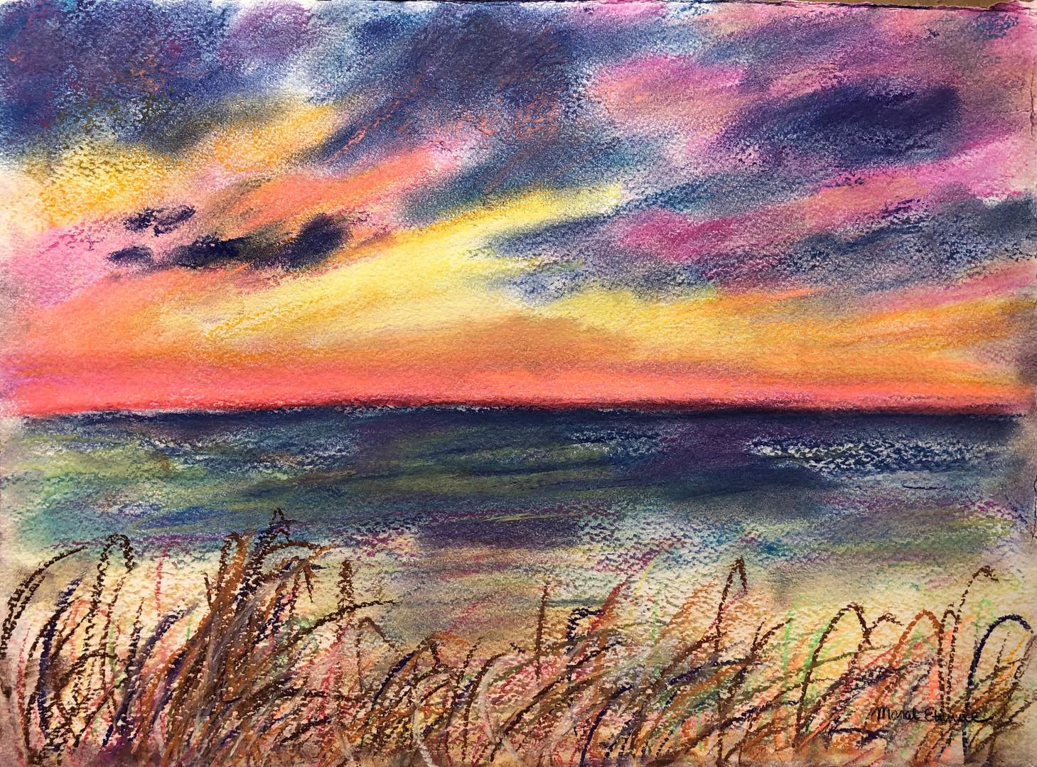Sunset Wonders in Pastel