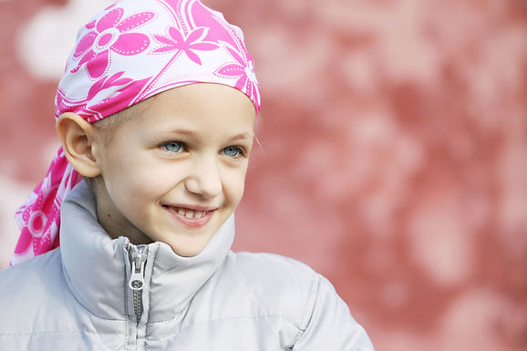 Young girl with cancer, beautiful, beacon 12, happy, chronic illness