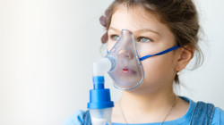 Little girl with asthma