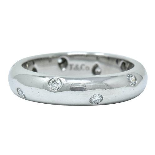 Tiffany and Company Etoile Collection Platinum & Diamond Ring