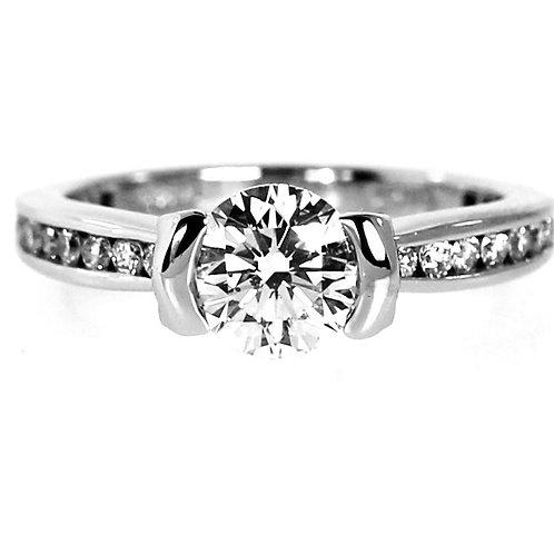 0.93 CARAT E-COLOR DIAMOND RING - RITANI DESIGN