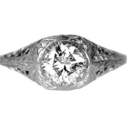 .94 DIAMOND PLATINUM ENGAGEMENT RING WITH LOVELY DETAILING