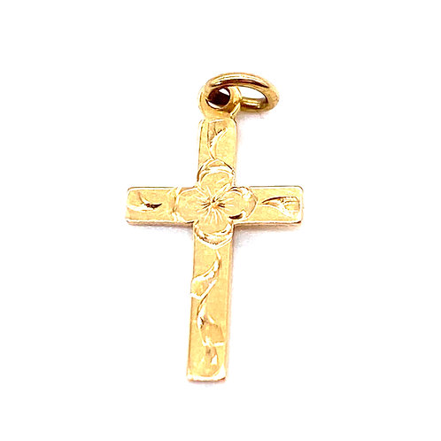 Cross Pendant made from 14k Gold