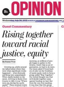 Guest Commentary in the Sentinel tells the story of Rise Together