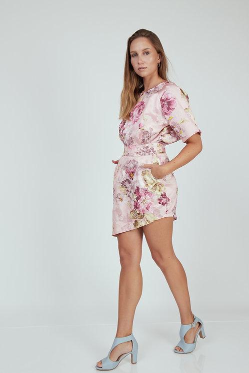 Floral Papaya Dress
