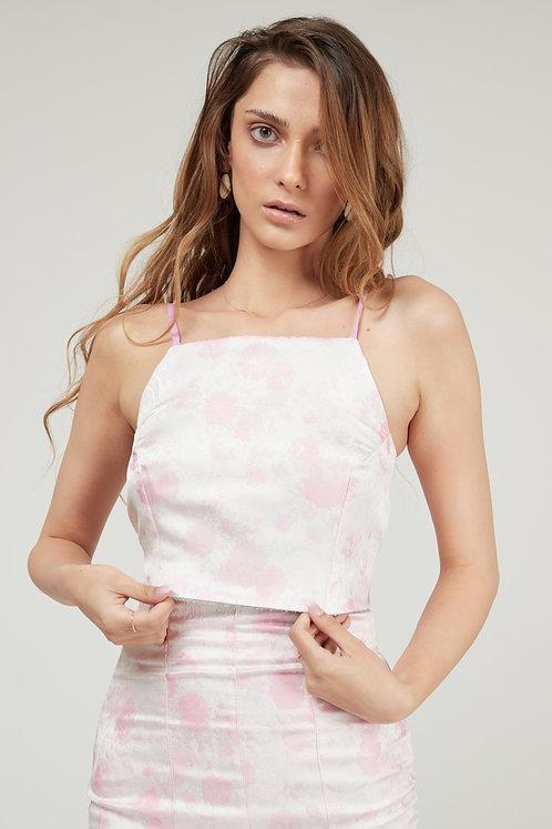 Pink Floral Nemesia Top