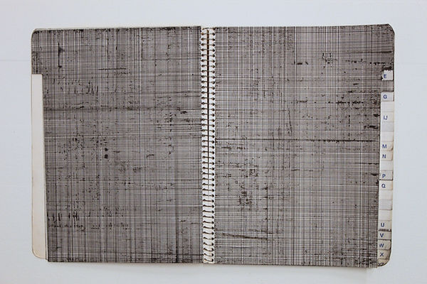 untitled-lines on notebook pages with th