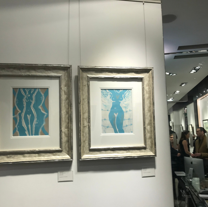Two of my Blue & White series