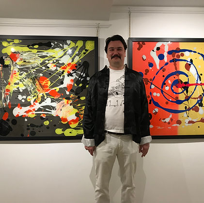 William Cookon at his latest exhibition