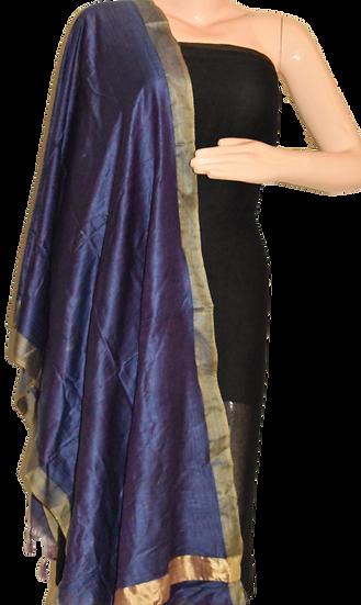 Katan Silk Stole in Purple color