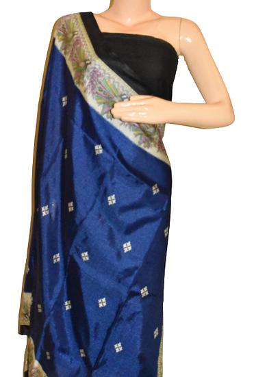 Katan Silk Dupatta with Block Print