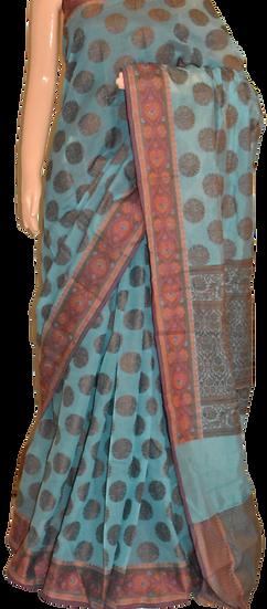 Cotton Butta Silk Saree