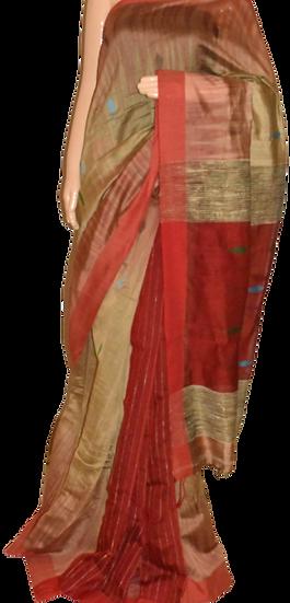 Cotton with Silk thread Saree