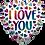 "Thumbnail: 18"" I love you Balloons"