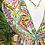 Thumbnail: Vestido estampado rachas laterais verde