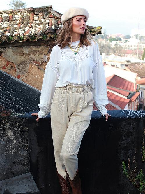 Blusa boho branca Vintage Bazaar