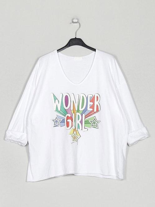 Camisola Wonder Girl branco