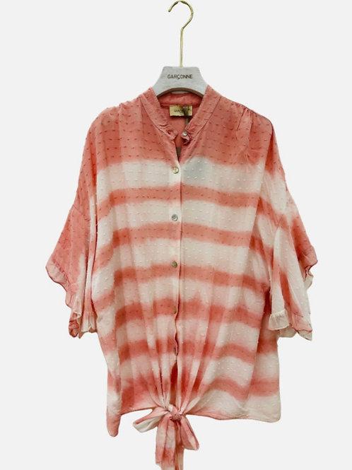 Blusa tie-diy laçada rosa