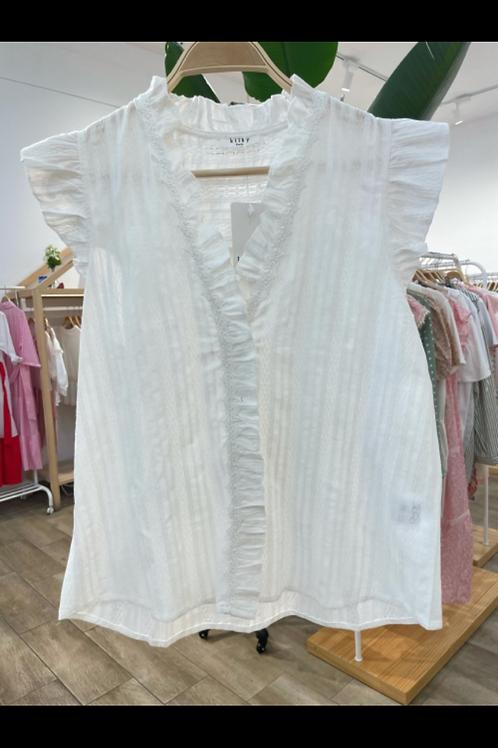 Blusa branca sem mangas