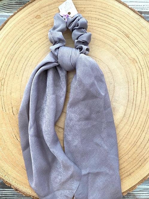 lenço para cabelo liso cinza