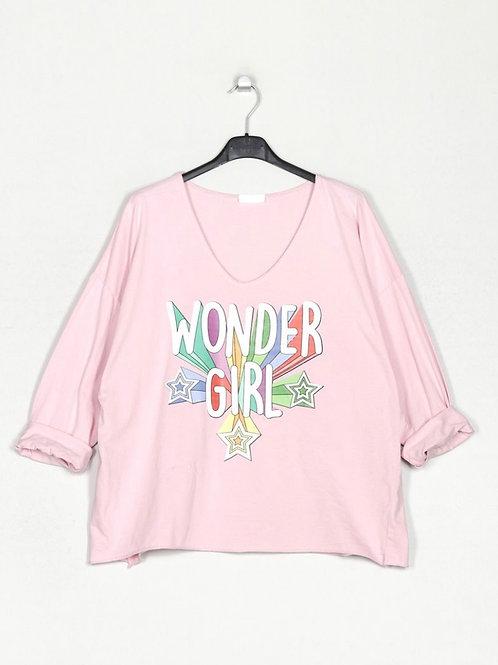 Camisola Wonder Girl rosa