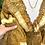 Thumbnail: Vestido seda manga boca de sino mostarda