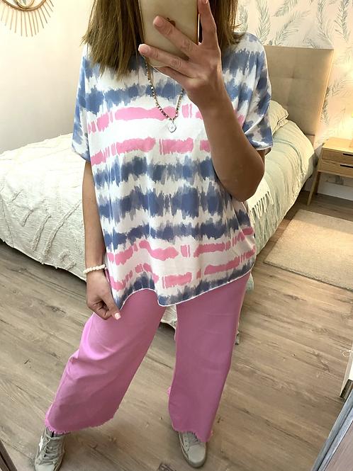 Camisola de malha fininha tie-diy