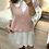 Thumbnail: Colete de malha rosa com botões strass