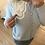 Thumbnail: Cardigan de malha com gola bordada azul
