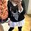 Thumbnail: Camisola oversize rena preto