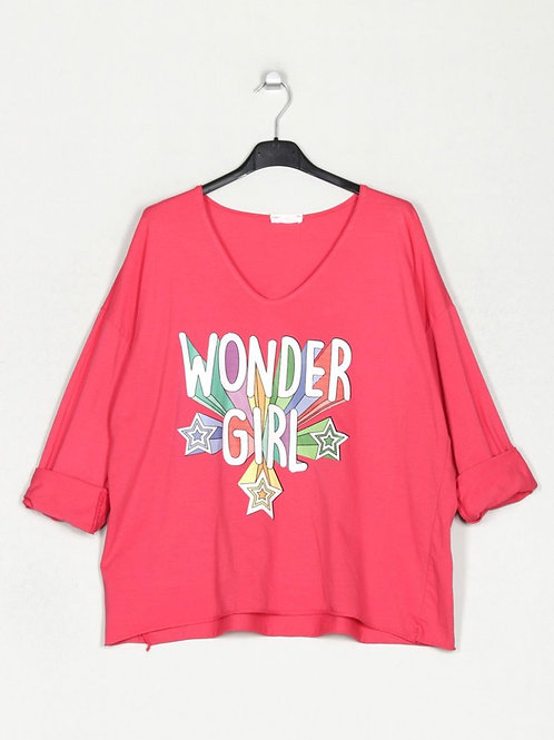 Camisola Wonder Girl fucsia