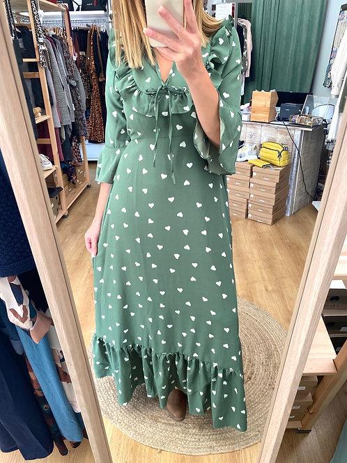 Vestido comprido Elvas verde Vintage Bazaar