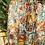 Thumbnail: Saia comprida estampa verde/laranja/amarelo