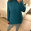 Thumbnail: Camisola de malha gola alta turquesa