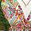 Thumbnail: Vestido estampado rachas laterais rosa