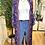 Thumbnail: Kimono comprido seda azulão