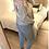 Thumbnail: Camisola de malha com gola celeste