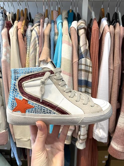 Sapatilha bota estrela azul/grená