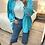 Thumbnail: Casaco/camisa aveludado turquesa