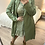 Thumbnail: Gabardina verde com folhos