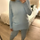 Thumbnail: Camisola gola alta com bolsos celeste