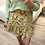 Thumbnail: Saia estampada flores amarelo