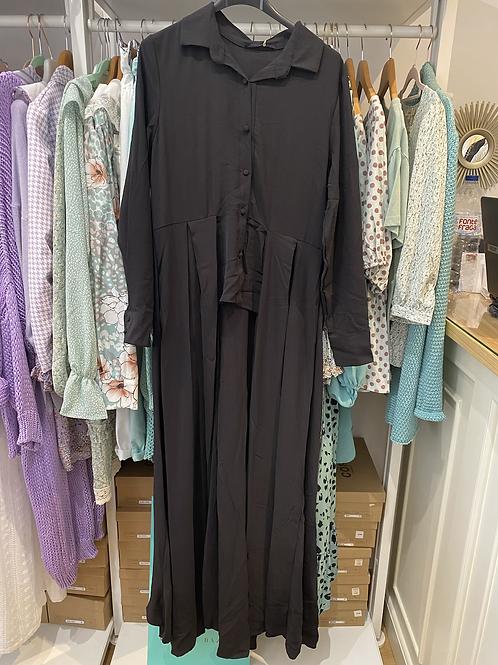 Camisa/casaco assimétrico preto