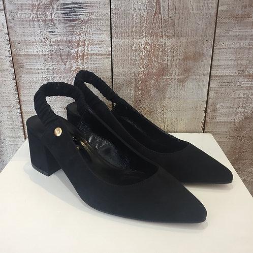Sapato preto camurça Ruika