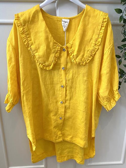 Blusa gola baby linho amarelo