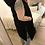 Thumbnail: Colete acolchoado comprido preto